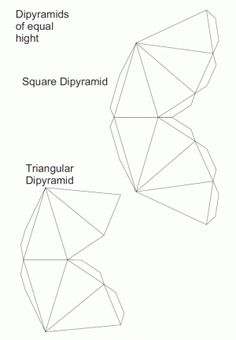 Nets triangular dipyramid and square dipyramid