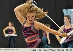 Photos of all Open Class Finalist guards from the 2012 WGI Color Guard World Championships