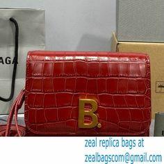 Balenciaga Cowhide Crocodile embossed Flap bag in Red Bb004 2021 Luxury Bags, Crocodile, Balenciaga, Messenger Bag, Satchel, Red, Crocodiles, Crossbody Bag, Backpacking
