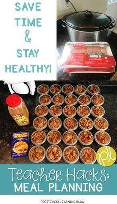 Healthy Meal Planning for Teachers Healthy Meal Planning Ideas for Teachers!<br> Happy Almost-Back-to-School! I'm sharing a few teacher hacks I use for healthy meal planning during the school year! Lunch Meal Prep, Healthy Meal Prep, Healthy Snacks, Healthy Recipes, Lunch Time, Healthy Tips, Healthy Choices, Crockpot Recipes, No Bake Snacks