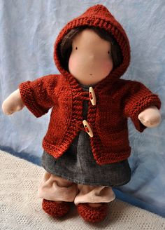 Ravelry: Hazels Hoodie - Waldorf Doll Sweater pattern by ruth haske
