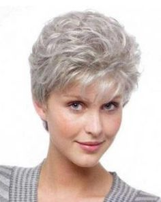 Image result for short hairstyles for fine thin hair over 60