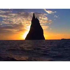 Ball's Pyramid off the coast of Australia.