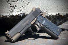 Remington 1911 with Midnight Bronze and Burnt Bronze Cerakote Firearm Coating.