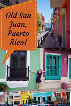 Looking for the best place to start your Puerto Rico travels? See photos of Old San Juan's beautiful rainbow colored colonial buildings!