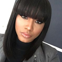 Classic Bob with bang~ ~What a cute&natural hair style!!  #nicehair #bobhair #beautiful #beauty #blackhair #instagood #gorgerous #boblife #love #repost #hairstyle #pretty #makeup #classichair #bang #amazing #naturalhairline #part #haircut #fashion