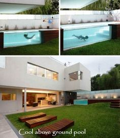 Cool above ground pool