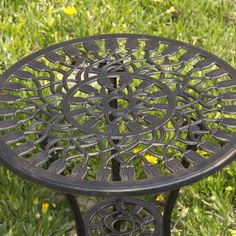 Best Choice Products® Outdoor Patio Furniture Tulip Design Cast Aluminum Bistro Set in Antique Copper  This bistro set is great for your outdoor living spaces and your outdoor eating areas. It's made of durable cast aluminum and assembles in minutes. It's made from rust free cast aluminum molded for an antique look. Enjoy your space knowing that there little or no maintenance at all. FEATURES: Two (2) beautiful flower designed chairs; Attractive antique finish; Sturdy and comfortable..