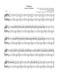 Closer by The Chainsmokers Piano Sheet Music | Rookie Level