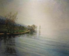 Evangelos Tzavaras - Winter Landscaper, acrylic