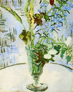 Vincent van Gogh - Glass with wild flowers (1890)