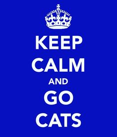 I can't stay calm, but GO BIG BLUE!