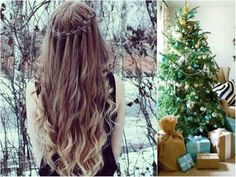 Festive Hairstyles Images On Favim pertaining to Christmas Hair Styles Cherry Red Lipstick, Christmas Tree Hair, Waterfall Hairstyle, Christmas Hairstyles, Hair Images, Favim, Handmade Decorations, Ombre Hair, Diy Hairstyles