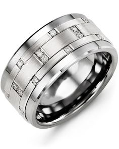 MADANI Rings specializes in men's wedding bands which include men's tungsten rings, ceramic rings, cobalt rings, and gold rings.