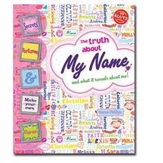 """""""The Truth About My Name"""". In this book, you will find fascinating details of your life as revealed by your name. How does your signature show your fashion sense? Did your parents pick the right name for you? What is your vampire name? The book also comes with everything you need to make five fashionable charms and personalize them with your name or initials. For ages 8 and up. $16.99"""