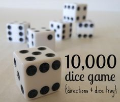10,000 dice game -- awesome game for the entire family! (Farkle)