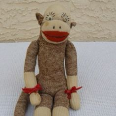 A cute vintage sock monkey - no hat.