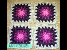 GRANNY SQUARE de FLOR a crochet | tutorial paso a paso · Ahuyama Crochet - YouTube