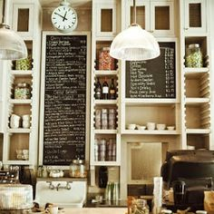 Chalkboard menus for an inexpensive, organic feel