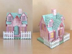Tim Holtz village cottage My first village bungalow cottage made from various…