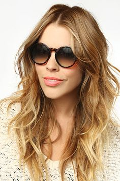 'Sunny' Oversized Round Sunglasses - Brown Speckle #1028-5