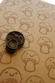 Mushroom Stamp Hongos champiñones
