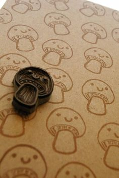 Mushroom Stamp! Corabelle on Etsy..