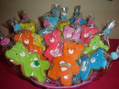 Care Bears Cookies Celebrate with Cake!: Care Bears Cake girl boys party cake cupcake cake pop birthday rainbow