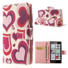 Lumia 520 sydämet lompakkokotelo. Nokia Lumia 520