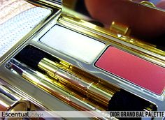 Dior Grand Bal Palette Open with Lipglosses Christmas Collection #Escentual #Swatches #Makeup