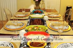 Friendsgiving Dinner, Free Printable and #CorningWare Giveaway