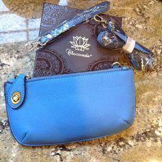 Blue Joy Susan Wristlet handbag clutch with strap Georgeous vegan Joy Susan Wristlet with detachable strap Monaco blue Joy Susan Bags Crossbody Bags