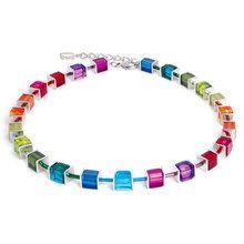 Coeur de Lion Geo Cube Collier Multicolour Rainbow