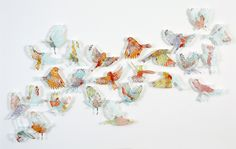 Claire Brewster, map, birds, art