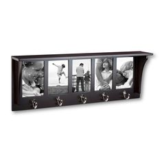 Threshold 5 Hook Entryway Shelf with Photo Openings : Target Picture Shelves, Wall Shelves, Picture Frames, Shelving, Entryway Shelf, Hallway Storage, Cozy Apartment, Christmas Wishes, Xmas
