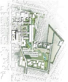 C.F. Møller Wins Vendsyssel Hospital Competition,Site Plan