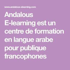 Andalous E-learning est un centre de formation en langue arabe pour publique francophones