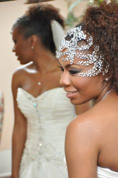 Curly hair for the bride
