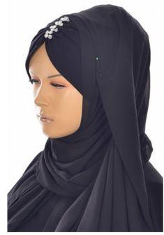 black headcovering  - head scarf - black  tichel - black hijab scarf - muslim scarves -  ready-to-wear