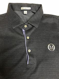 213b4c508de9d (eBay link) Peter Millar Black Purple Golf Polo Shirt With Millar M Golf  Club Symbol Size XL  fashion  clothing  shoes  accessories  mensclothing   shirts