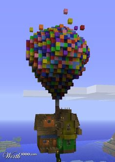 Pixar's Up House.. in Minecraft of course..
