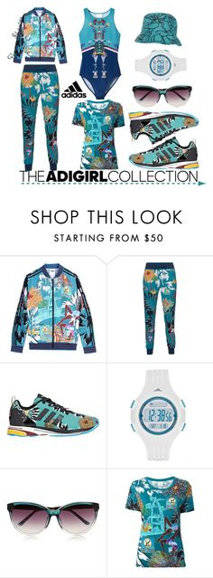 """Show Off Your adGIRL Style: Contest Entry"" by adswil ❤ liked on Polyvore featuring adidas, adidas Originals, Matthew Williamson, women's clothing, women's fashion, women, female, woman, misses and juniors"