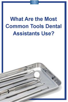 Mirrors, probes, drills and more - the tools dental assistants pass to the dentist to help them give people bright smiles. Learn more about the tools you'll use as a dental assistant! Signs Of Tooth Decay, Dental Assistant Study, Schedule Design, Emergency Dentist, Dental Supplies, Bone Density, Most Common, Oral Health, Drills