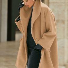 Camel art fit coat