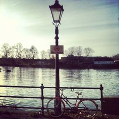 Such a #rebel #parked #bike #chiswick #thames #saturday