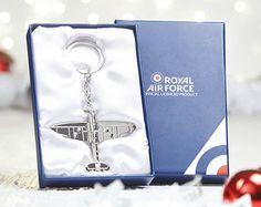 SPITFIRE KEY RING, Christmas Gift, RAF, Enthusiast, Pilot, Aeroplane, WW2,