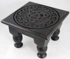 Wicca Supplies, Pagan Supplies, Witchcraft Supplies, Spiritual Supplies - New Awakening - Triquetra Altar Table, $33.95 (http://www.wiccasupplies.ca/triquetra-altar-table/)
