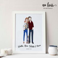 Portrait de famille sur mesure  Portrait de par NoFussPrintable