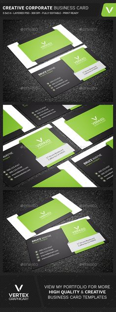 Creative Corporate Business Card - Creative Business Cards Download here : https://graphicriver.net/item/creative-corporate-business-card/18858727?s_rank=149&ref=Al-fatih