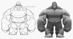 Hulk designs I did back when we were first coming up with the style for Infinity. I think Disney had recently purchased Marvel and we were...